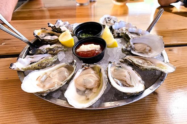 A dozen oysters, including Baja raised Kumiai