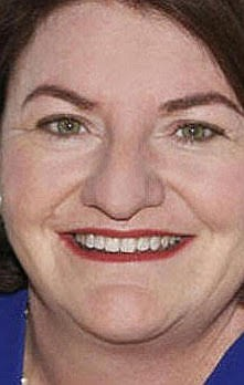 """Senator Toni Atkins is a regular, studying the horses in the walking ring before each post at Del Mar."""