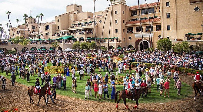 """Atkins showed up at Del Mar this month """"to see how the [Del Mar] track is maintained and prepared before and after each race."""""""