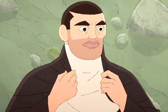 Buñuel in the Labyrinth of the Turtles: For his animated debut, Luis Buñuel gets that obscure shadow of Fred Flintstone stubble.
