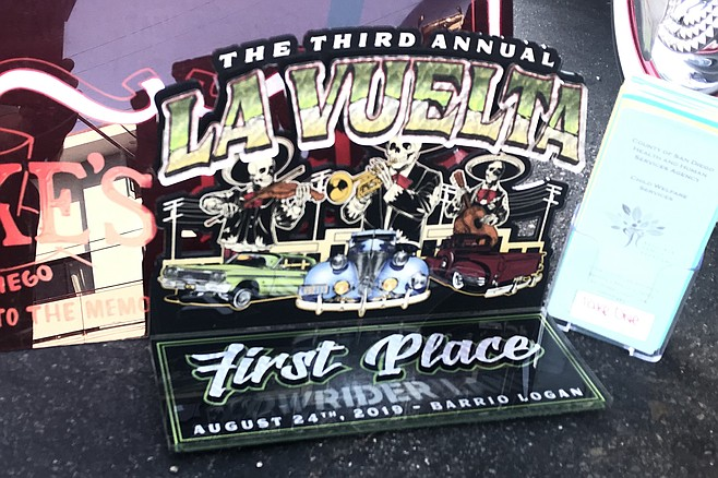 Marisa's prize: First place in the low rider contest