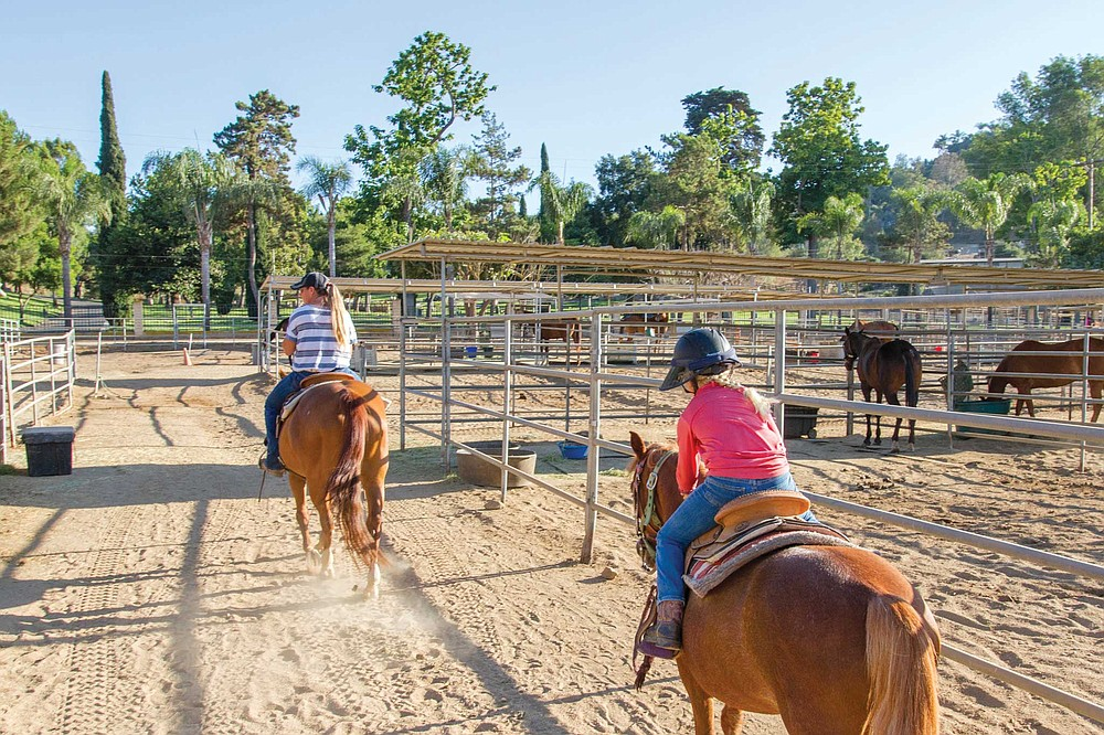 There are still a lot of horses, horse people and horse facilities in Poway, like the North County Equestrian Center on Tierra Bonita Road.