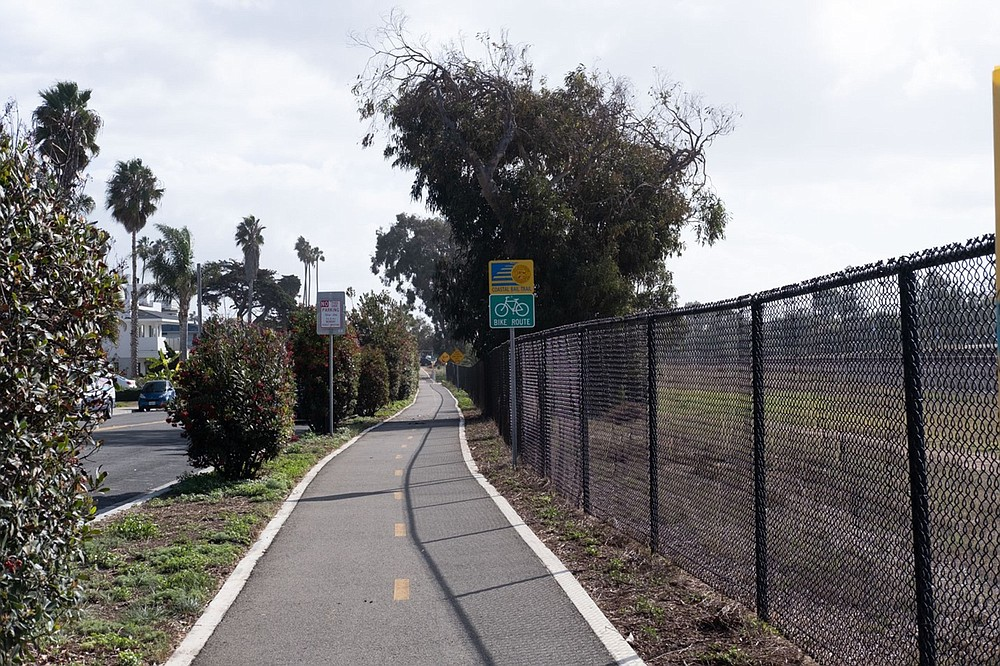 A Class 1 bike trail is separated from traffic