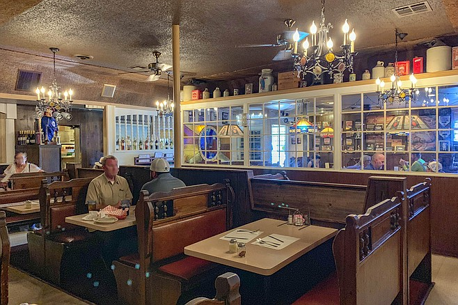 At Lido's Italian, a large dining room recalls another era.