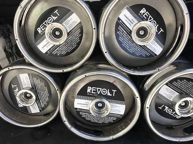 Revolt Wine is sold exclusively in the 5.16 gallon kegs colloquially known as sixtels.