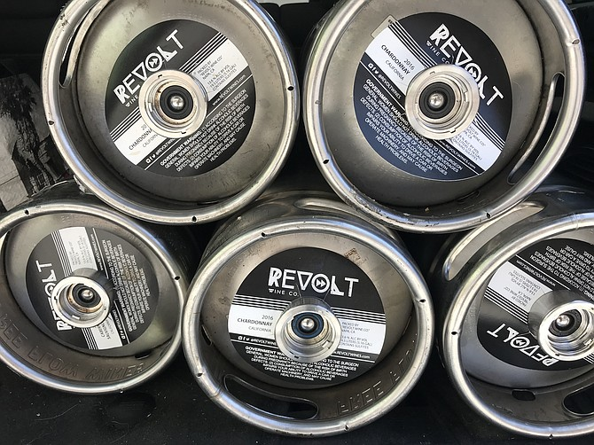 Revolt Wine is sold exclusively in the 5.16 gallon kegs colloquially known as sixtels. - Image by Sydney Prather