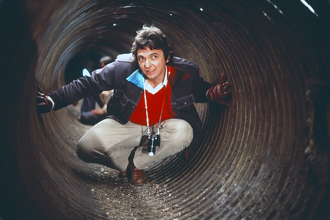 """Gregory Nava in the tunnels: """"I wanted something to make the audience feel the danger and horror involved in crossing the border."""""""