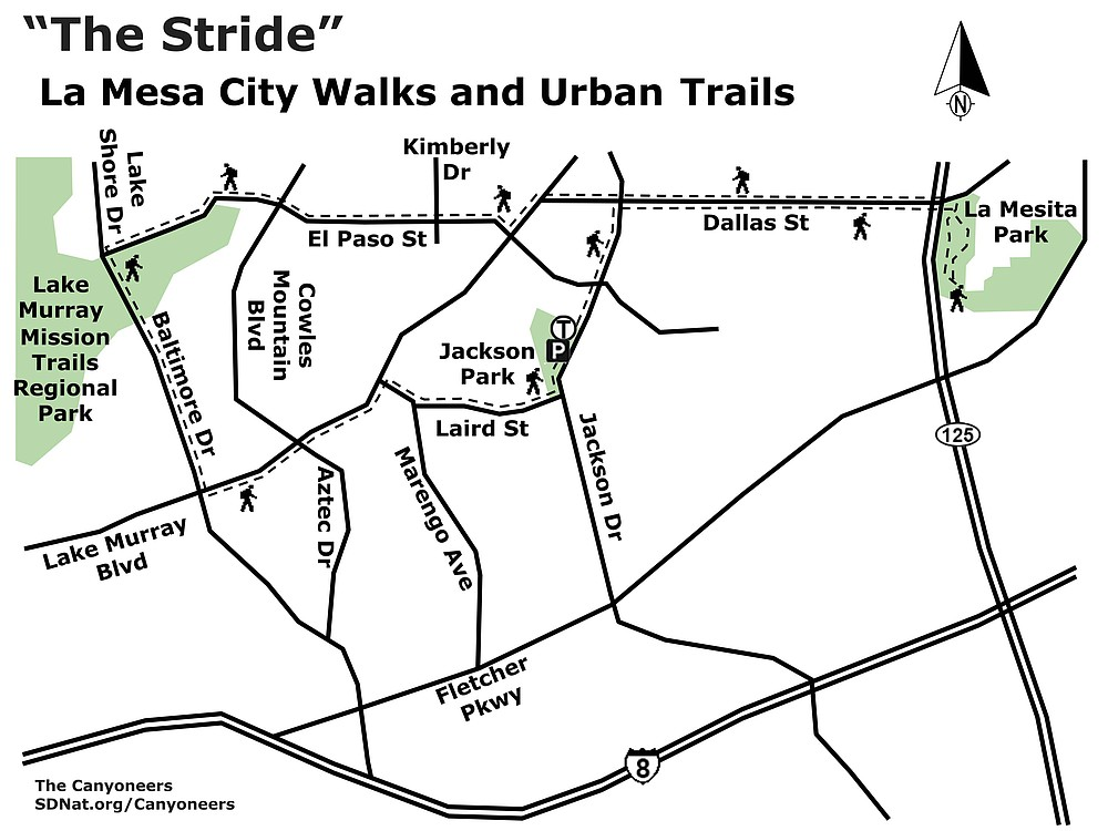 La Mesa City Walks & UrbanTrails map