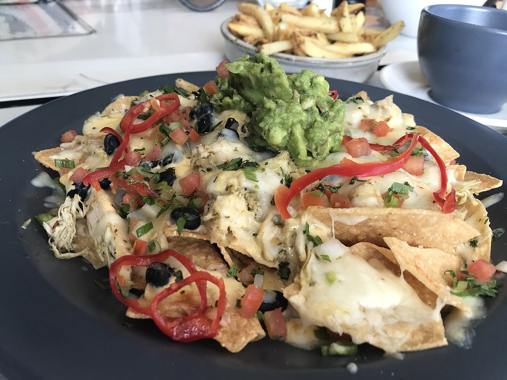 Nachos - so much chicken, they're a meal.