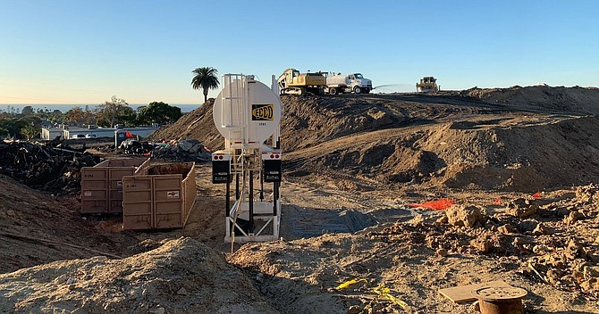Sunset High School in Encinitas scraped to the ground