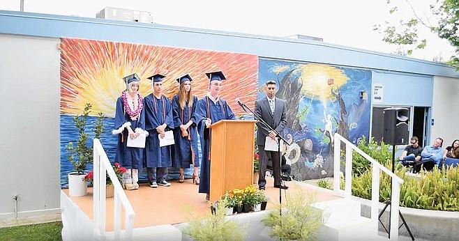 Last graduating class on old campus
