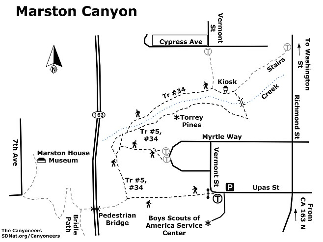 Marston Canyon map