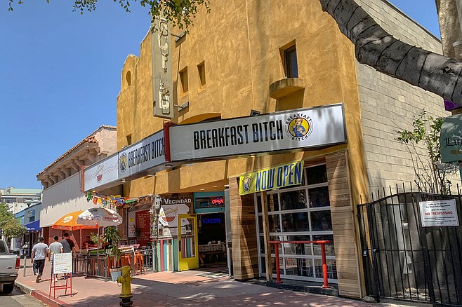 Many restaurants have tried out this location, Breakfast Bitch is the first with attitude.