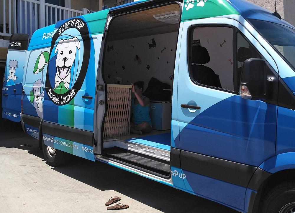 "Doggie Lounge van. ""The travelers/homeless kept moving closer."""