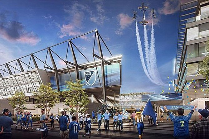 Faulconer publicly endorsed the proposal to turn city-owned Qualcomm Stadium over to SoccerCity