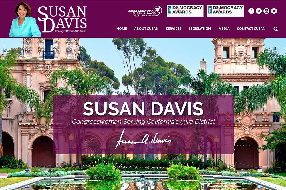 """Susan Davis's retirement announcement: """"My decision today represents a desire to live and work 'at home' in San Diego."""
