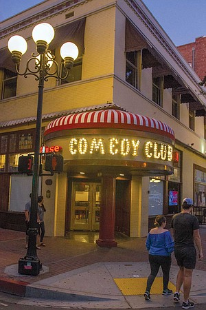 Madhouse Comedy Club sits at its new location at the intersection of 4th Avenue and F Street, since moving from Horton Plaza in November.