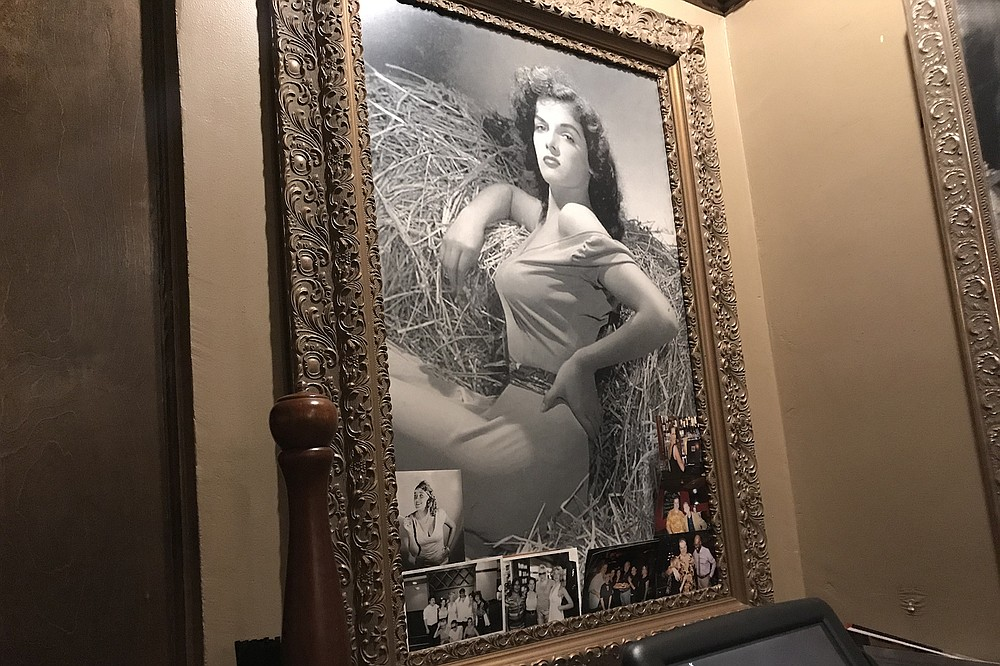 Jane Russell, also a fan of Cafe La Maze