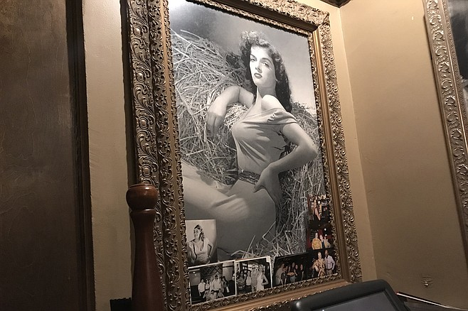 Jane Russell, also a fan of Cafe La Maze