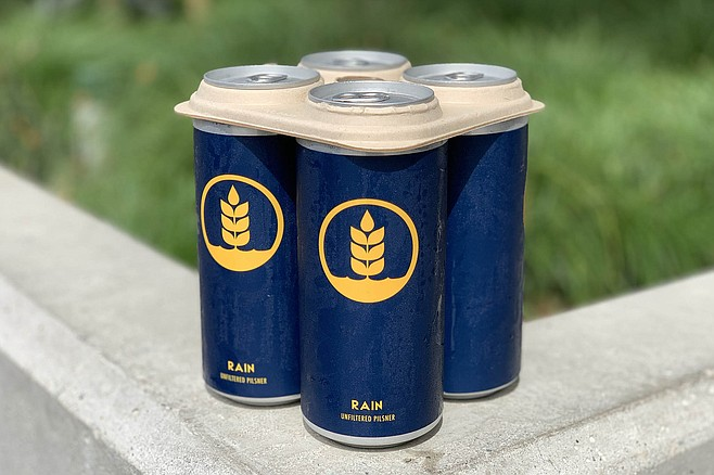 A Pure Project four-pack with biodegradable can holder