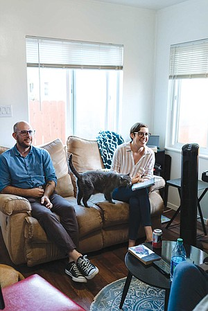 Alanna Rickards Vaught and her husband, Ryan, host a couples book club at their home in South Park.