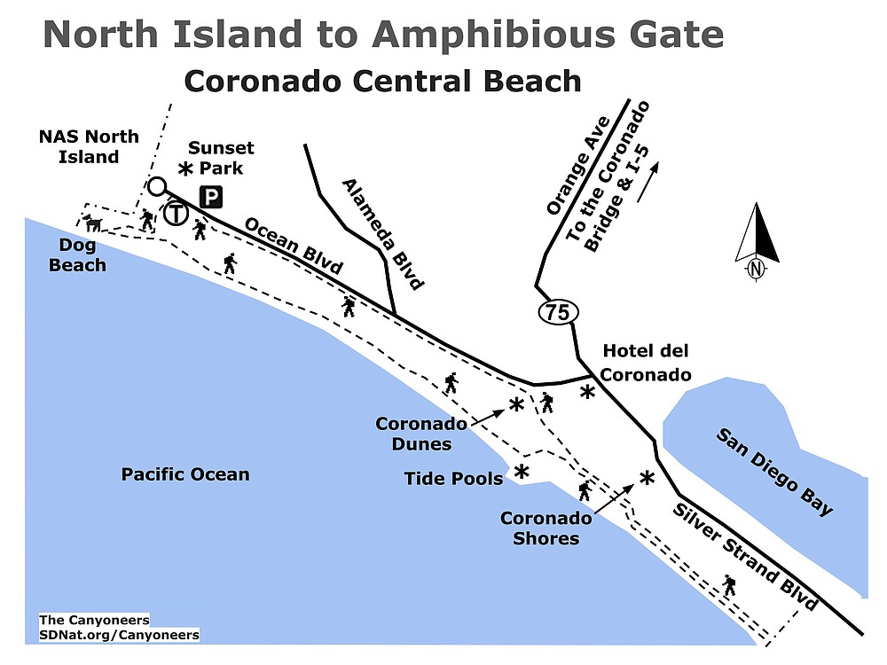 North Island to Amphibious Gate map