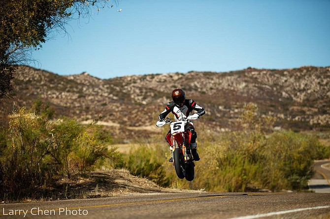 The 2019 race was dedicated to Carlin Dunne who crashed his Ducati motorcycle at Pikes Peak run. - Image by Larry Chen