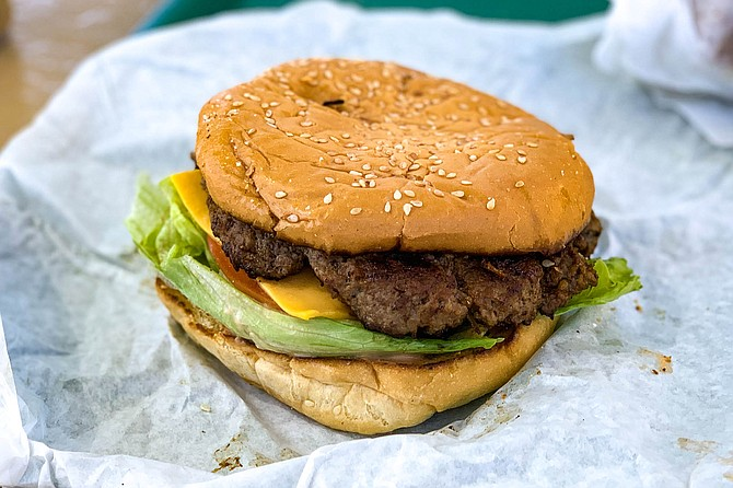 The Nessy Burger keeps it classic and simple, with a terrific and soft sesame seed bun.
