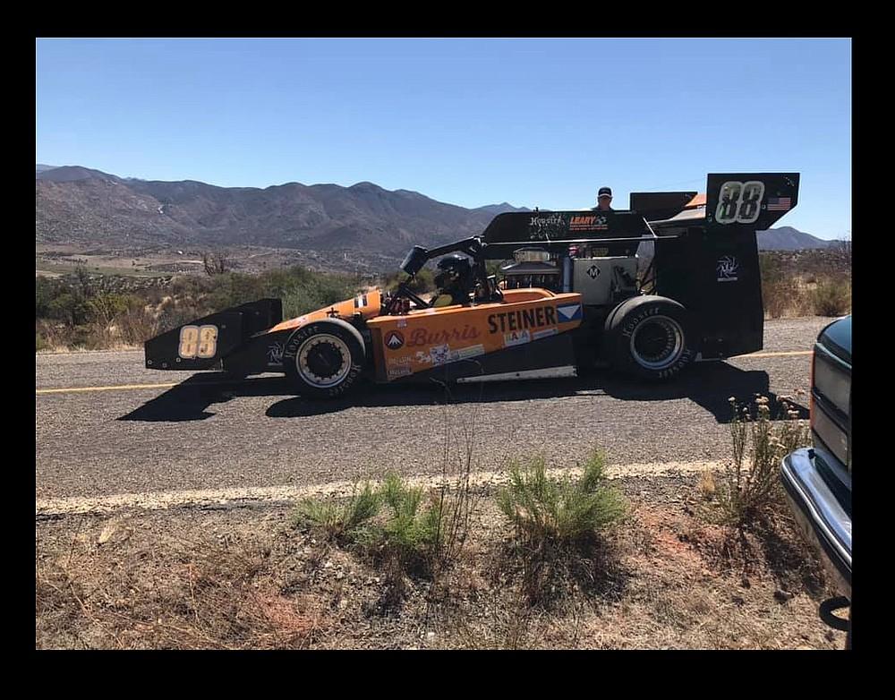 Spencer Steele's winning car