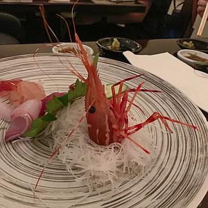 A shrimp so fresh it still moves on the plate