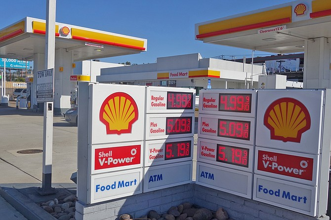 The Shell station at 2521 Pacific Highway near the airport is one of the highest