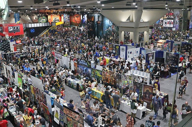 Many Comic-Con attendees couldn't find DC Comics, which had abandoned its usual spot front and center. DC's booth had been folded into the Warner Bros. area in the corner.