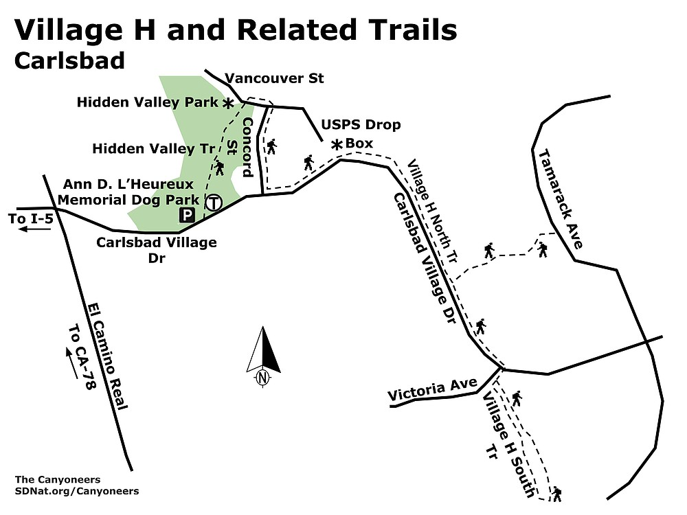 Carlsbad Village H and Related Trails map