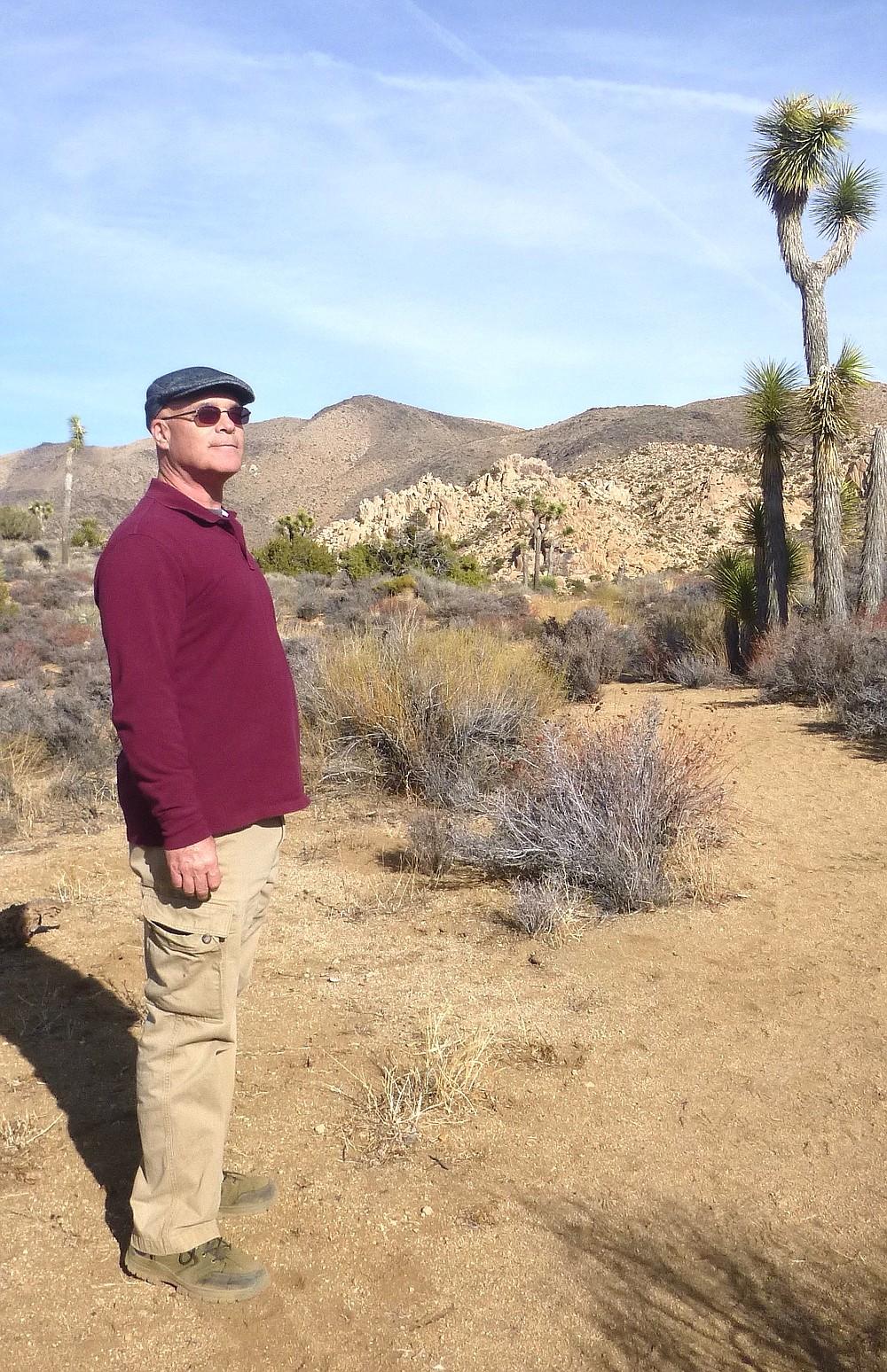 Bob Craig on a hike in Joshua Tree National Park