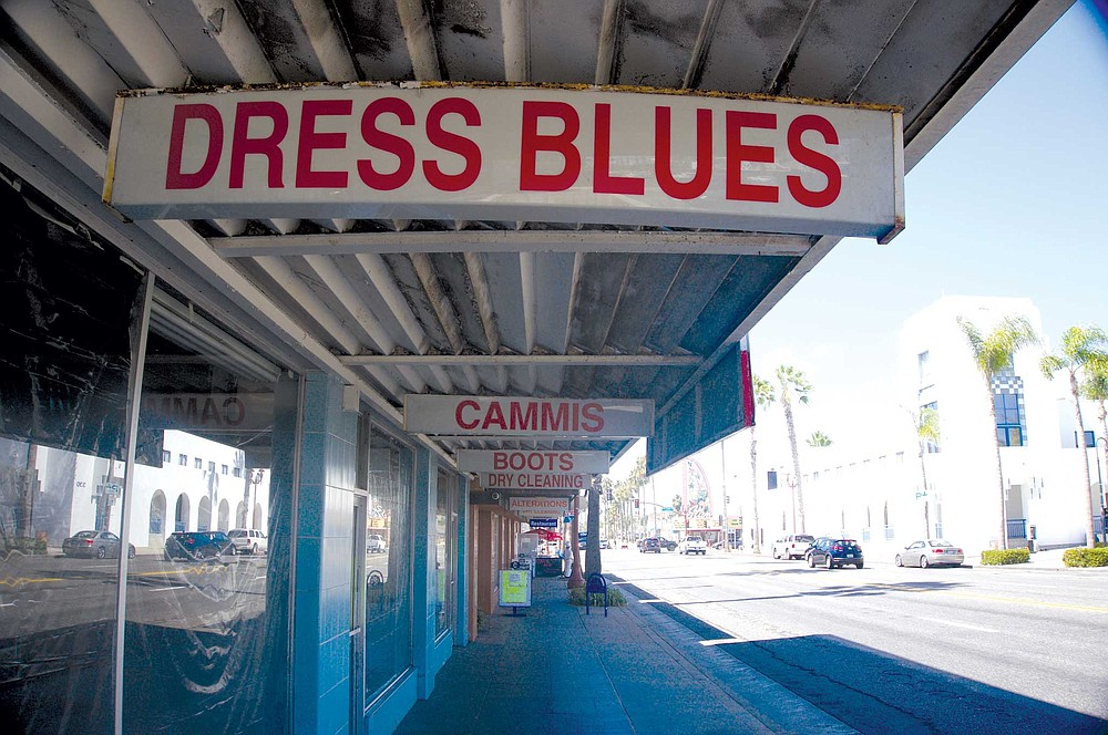 Marines, permanent residents and tourists split retail space on Coast Highway.