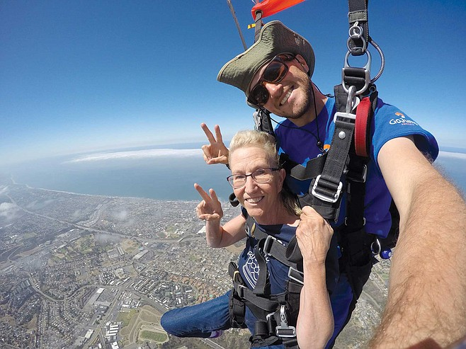 GoJump Oceanside: The view from 4,000 feet.