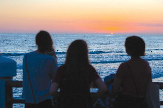 Sunset from the Oceanside Pier.