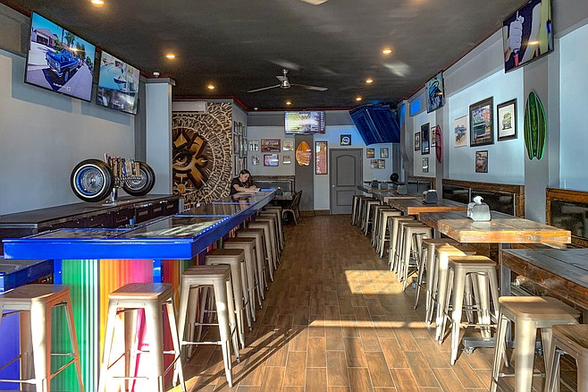 The new bar added to Barrio Logan's resident hot dog shop