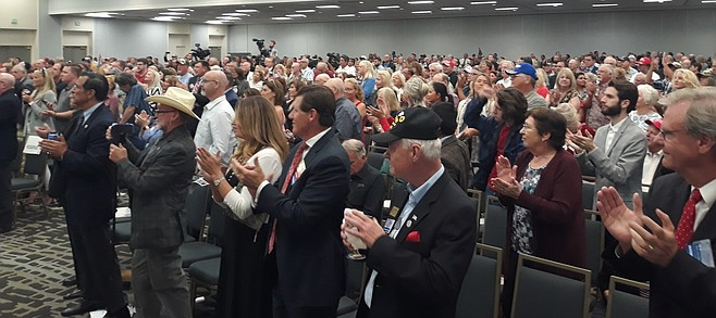 Audience of 1200 showed up at the Town and Country in Mission Valley.