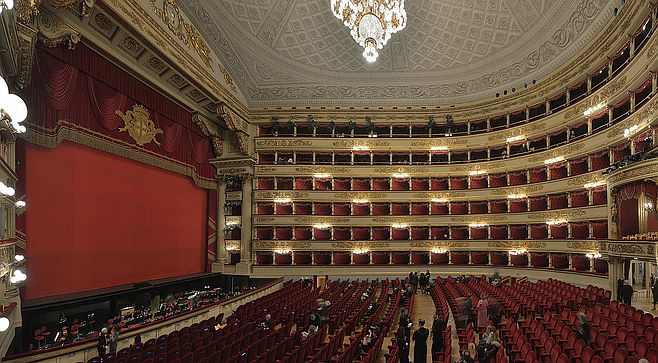 La Scala in Milan. Singers dominated opera until about 40 years ago.