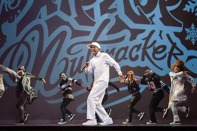 """Kurtis Blow and the cast of the Hip Hop Nutcracker perform """"The Breaks"""" finale."""