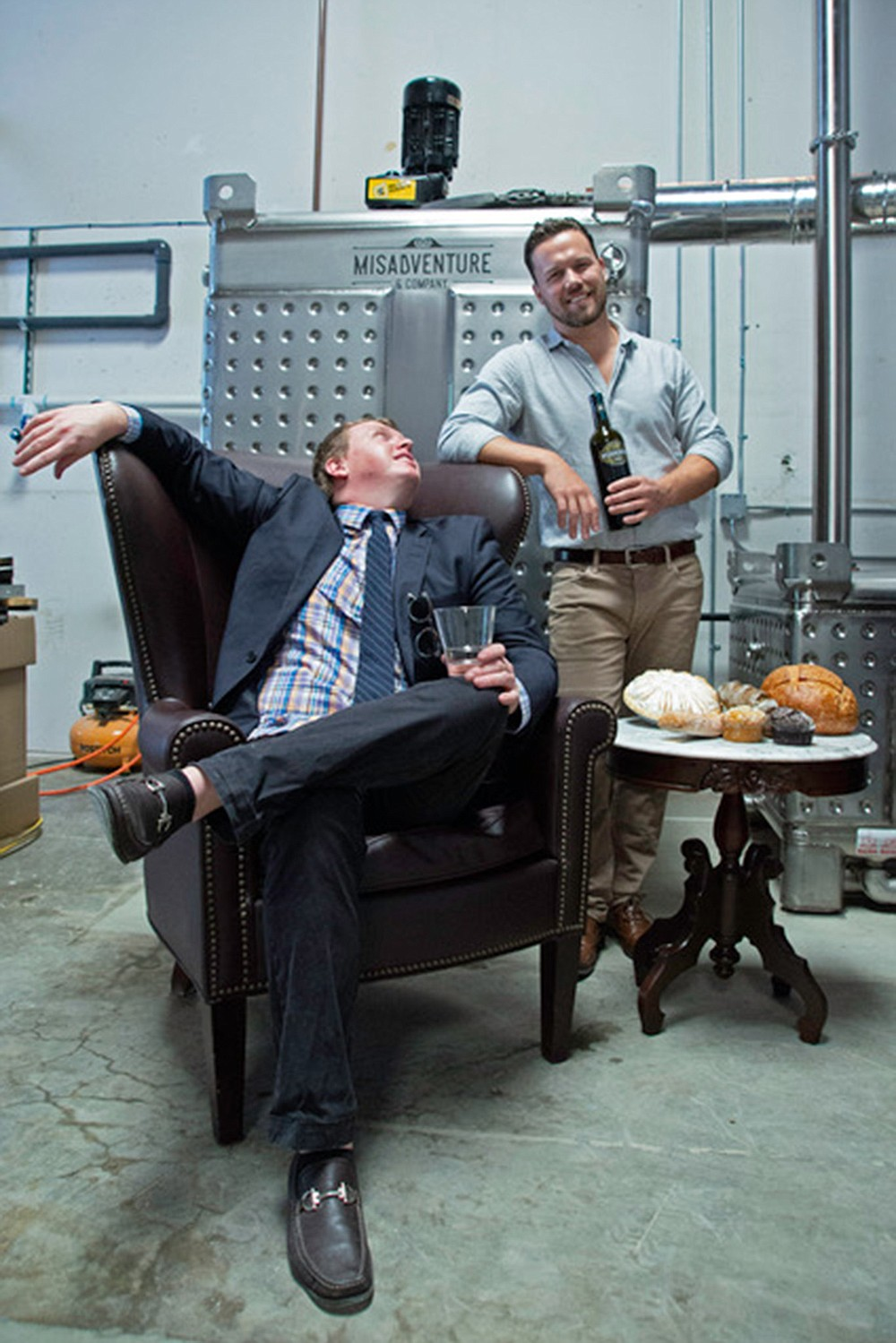 Chereskin (seated) and Rigali, creators of a craft brand that gets cooler as it gets bigger.