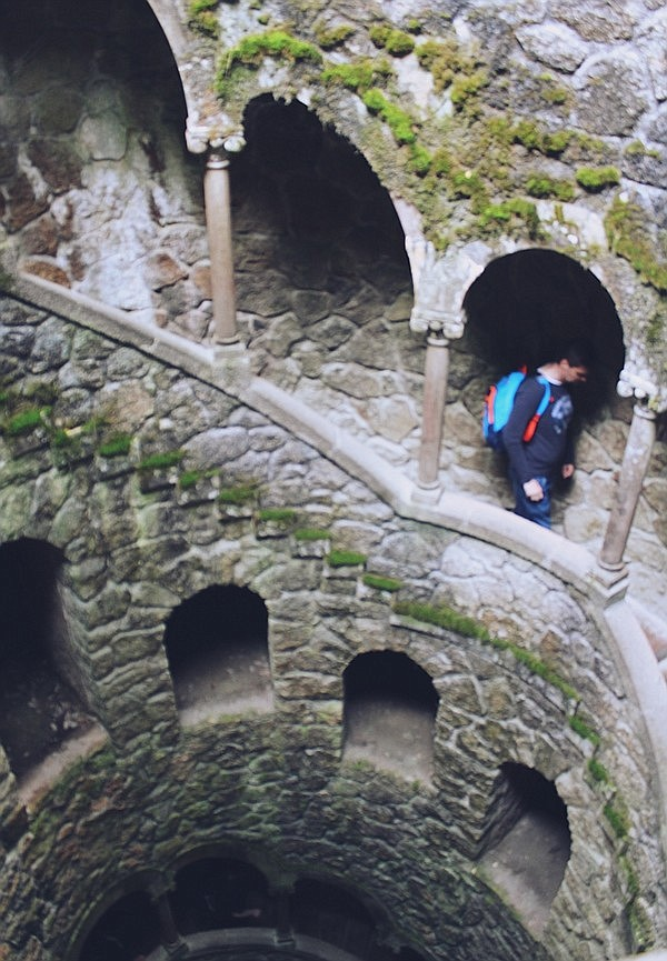 The Initiation Well at Quinta da Regaleira in Sintra, Portugal.