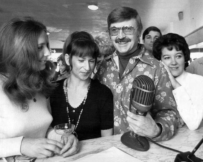 The late Bill Ballance, KFMB's onetime ribald nighttime host.