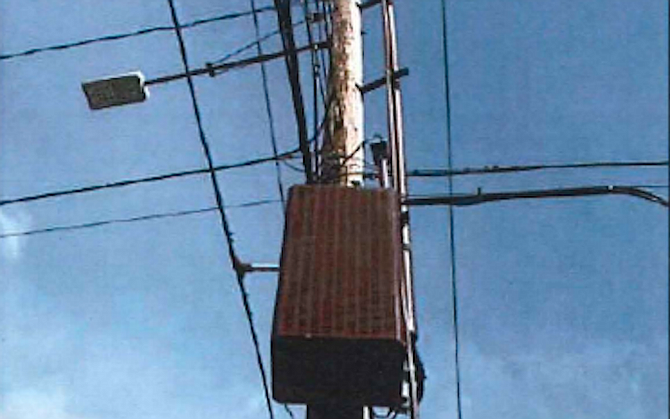 Pole-mounted accessory equipment (from La Mesa city manager report)