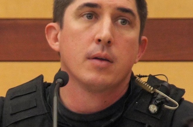 Officer Joseph Putulowski said he recognized Perry from prior contacts.