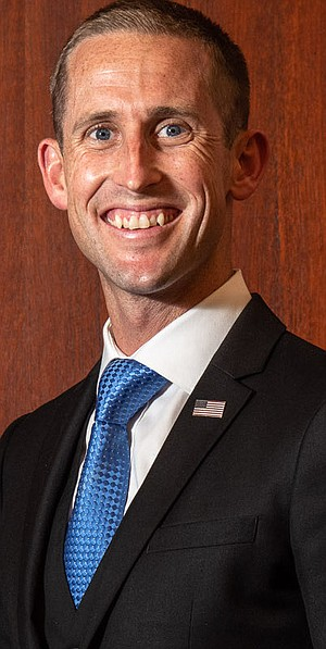Zack Beck made the surprise announcement that he was running for mayor of Oceanside.