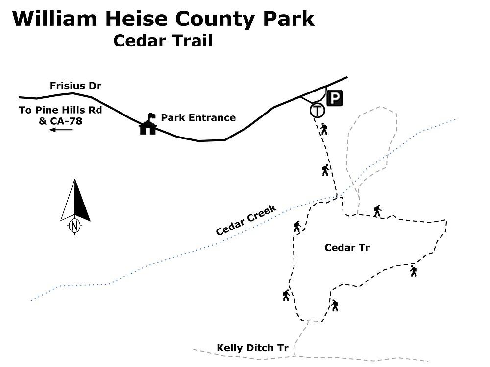 William Heise Co Park-Cedar Trail map