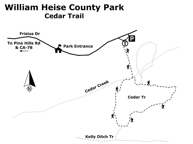William Heise Co Park-Cedar Trail map