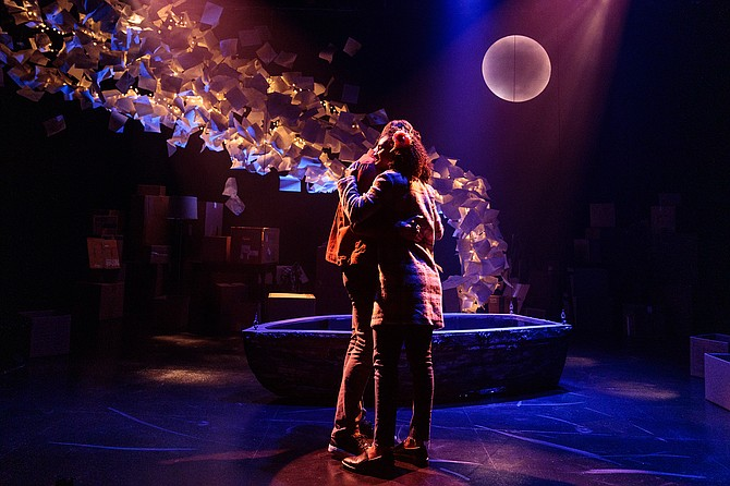 Michael Louis Cusimano and Racquel Williams perform in The Last Five Years at Cygnet Theatre.